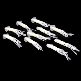 Umpan Pancing Luminous Squid Soft Bait Lure 10 PCS - White - 5