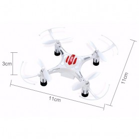 JRC H8 Drone Mini Pocket Quadcopter RC 2.4GHz 4CH 6-Axis - White - 3