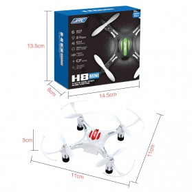 JRC H8 Drone Mini Pocket Quadcopter RC 2.4GHz 4CH 6-Axis - White - 5