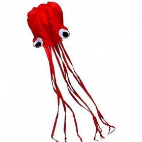 Layang-Layang Lucu Model Gurita Raksasa 4M Waterproof - Red