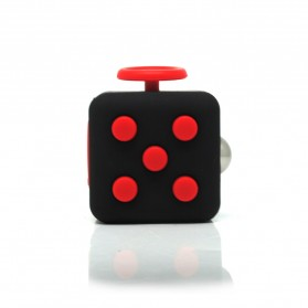Mainan Pelepas Stress Fidget Cube - Black/Red - 1