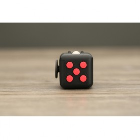 Mainan Pelepas Stress Fidget Cube - Black/Red - 9