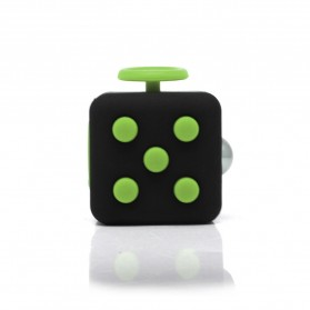 Mainan Pelepas Stress Fidget Cube - Black/Green