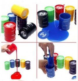 Barrel Slime 1 PCS (RANDOM COLOR) - Multi-Color - 3
