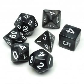Board Game - Dadu Polyhedral Bentuk D4 D6 D8 D10 D12 D20 - Black