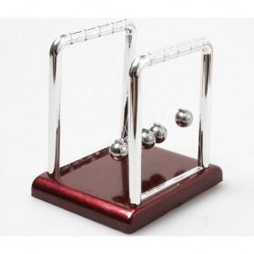 Pajangan Meja Pendulum Newton Size S - H50S - Brown - 3