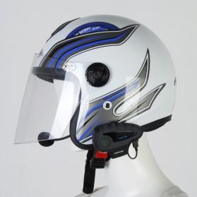 Vnetphone V8 Helmet Bluetooth Interphone 1200 Meter dengan Remote - Black - 4