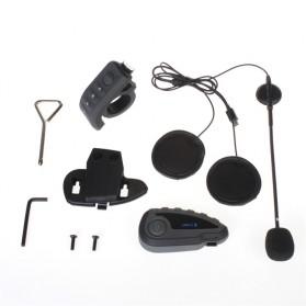 Vnetphone V8 Helmet Bluetooth Interphone 1200 Meter dengan Remote - Black - 6