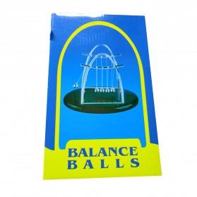Balance Balls Pajangan Meja Pendulum Newton Model Arched Size M - ZY02 - Brown - 8