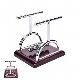 Balance Ball Pajangan Meja Pendulum Newton Model T Size S - LX013 - Brown - 3