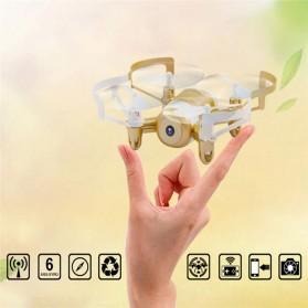 JXD Mini UFO Quadcopter Drone Wifi dengan Kamera 0.3MP - 512DW - White/Black - 3