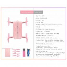 JJRC H37 Elfie Valentine Version Drone Wifi dengan Kamera 2MP 720P - Pink - 9