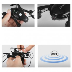 Mini Quadcopter Drone Wifi with 0.3MP Camera- FY603 - Black - 6