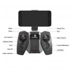 Mini Quadcopter Drone Wifi with 0.3MP Camera- FY603 - White - 7