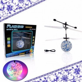 TOAWLC Mainan Flash Flying Ball Disco Helicopter - XD988 - Multi-Color - 6