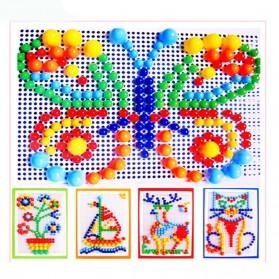 Mainan Puzzle Jamur Kreatifitas Mosaik - Multi-Color
