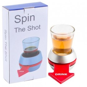 Spin the Shot Alat Permainan Pesta Minum - Silver
