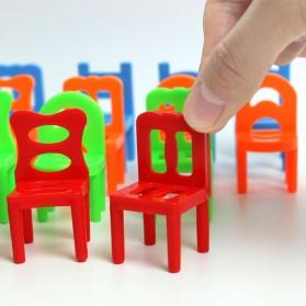 Mainan Tumpuk Kursi Keseimbangan - Multi-Color - 5