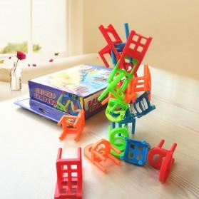 Mainan Tumpuk Kursi Keseimbangan - Multi-Color - 8