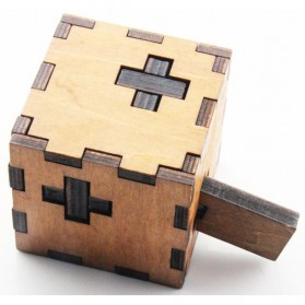 Mainan Anak & RC Helicopter - 3D Wood Puzzle Model Cube