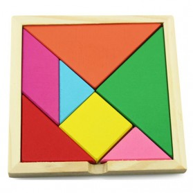 Mainan Puzzle Tangram Kreatifitas - Multi-Color