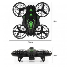JXD 515W Quadcopter Drone Wifi dengan Kamera 0.3MP - Black/Green - 4
