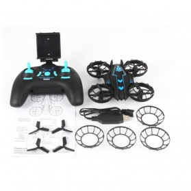 JXD 515W Quadcopter Drone Wifi dengan Kamera 0.3MP - Black/Green - 5