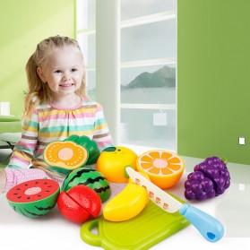 Mainan Anak Miniatur Buah dan Sayur 6 PCS - Multi-Color