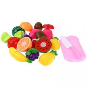 Mainan Anak Miniatur Buah dan Sayur 13 PCS - Multi-Color - 1