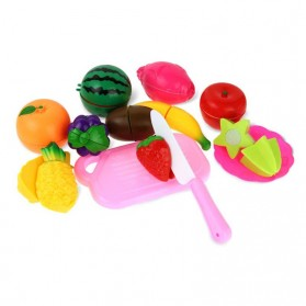 Mainan Anak Miniatur Buah dan Sayur 13 PCS - Multi-Color - 2