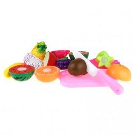 Mainan Anak Miniatur Buah dan Sayur 13 PCS - Multi-Color - 3