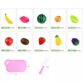 Mainan Anak Miniatur Buah dan Sayur 13 PCS - Multi-Color - 5