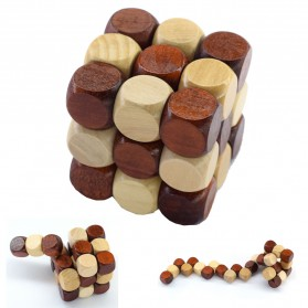 Mainan - 3D Wood Puzzle Model Magic Cube