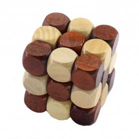 3D Wood Puzzle Model Magic Cube - 2