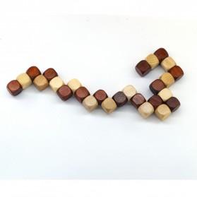 3D Wood Puzzle Model Magic Cube - 3