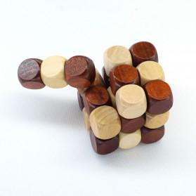 3D Wood Puzzle Model Magic Cube - 4