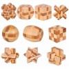 3D Wood Puzzle 10PCS