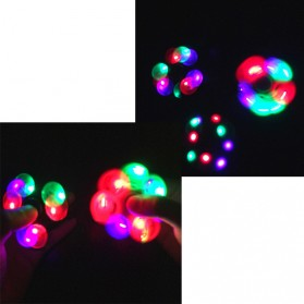 Tri Fidget Spinner LED - Multi-Color - 6