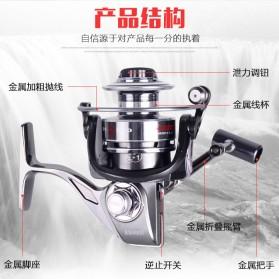 DEBAO Reel Pancing BM3000 12 Ball Bearing - Silver - 5