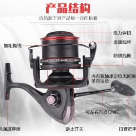 De Bao Reel Pancing TP8000 12 Ball Bearing - Black - 5