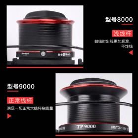 De Bao Reel Pancing TP8000 12 Ball Bearing - Black - 8
