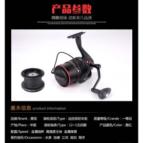 De Bao Reel Pancing TP8000 12 Ball Bearing - Black - 14