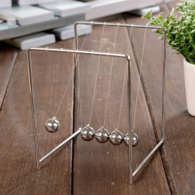 Pajangan Meja Pendulum Newton Stainless Steel Size S - Silver - 4