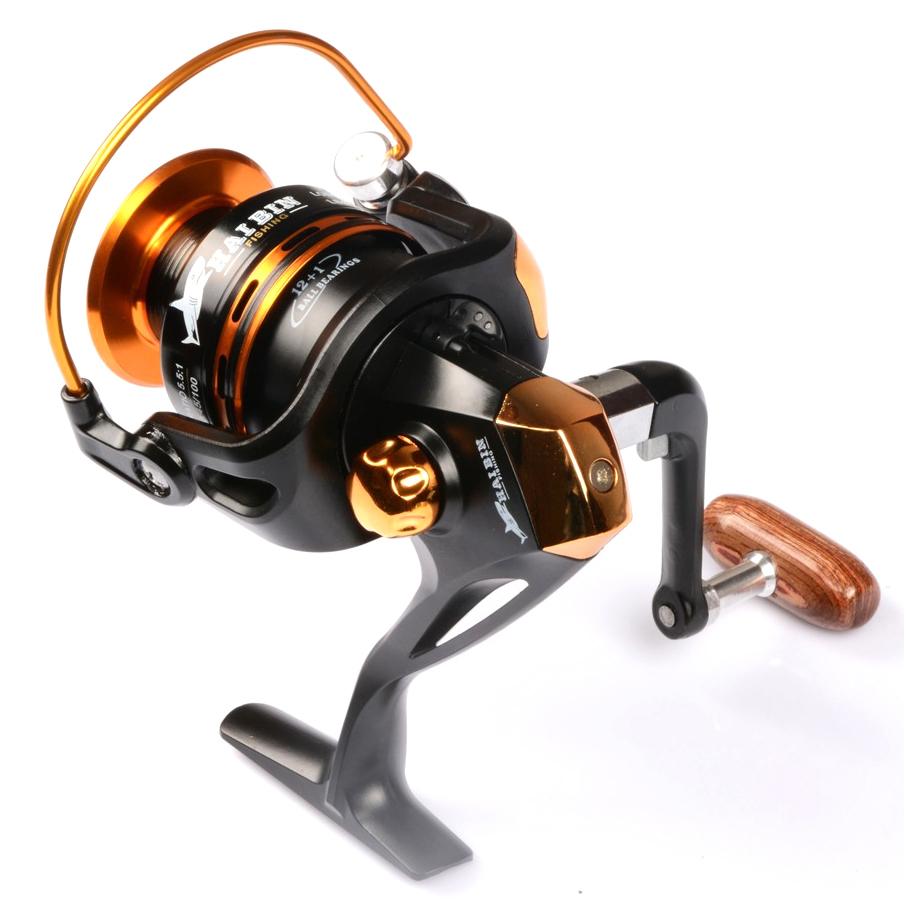 Reel Pancing Ya4000 12 Ball Bearing Black Gold Ter Debao Gulungan Db3000a Metal Fishing Spinning 10 Golden 5