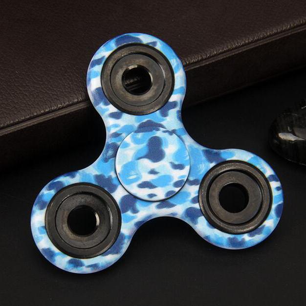 608 bearing. painted tri fidget spinner 608 bearing - sky blue 1