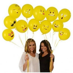 Balon Tiup Emoticon 100 PCS - Yellow