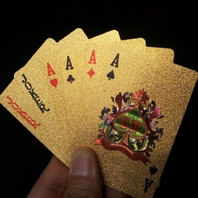 Kartu Remi Poker Gold Foil - Golden