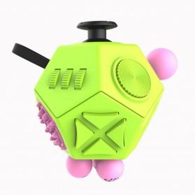 Mainan Pelepas Stress Hexagon Fidget Cube - Green