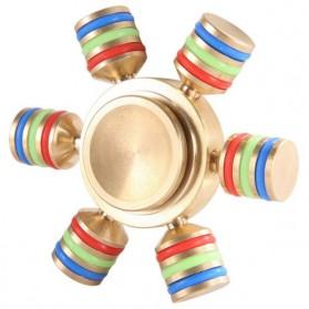 Hex Metal Fidget Spinner - Golden