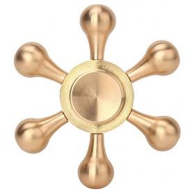 Round Hex Metal Fidget Spinner - Golden